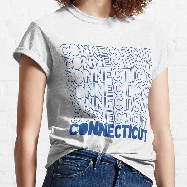 Repeating Connecticut Dark Blue Classic T-Shirt
