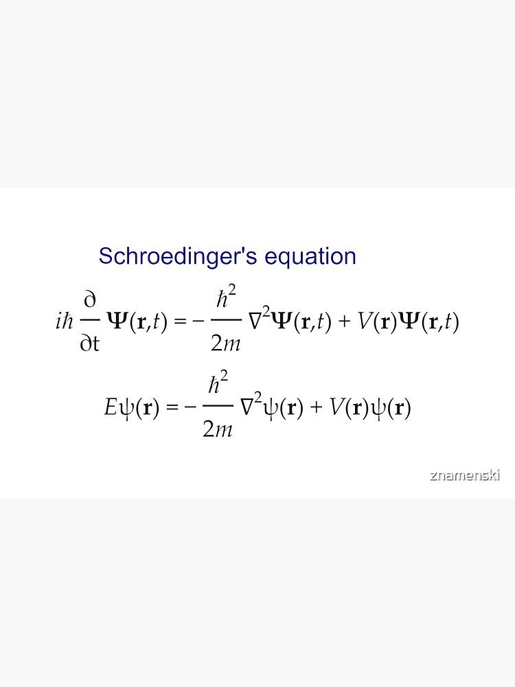 #Schrödinger #Equation,  #Quantum #Physics, Wave Function, Quantum Mechanics  by znamenski