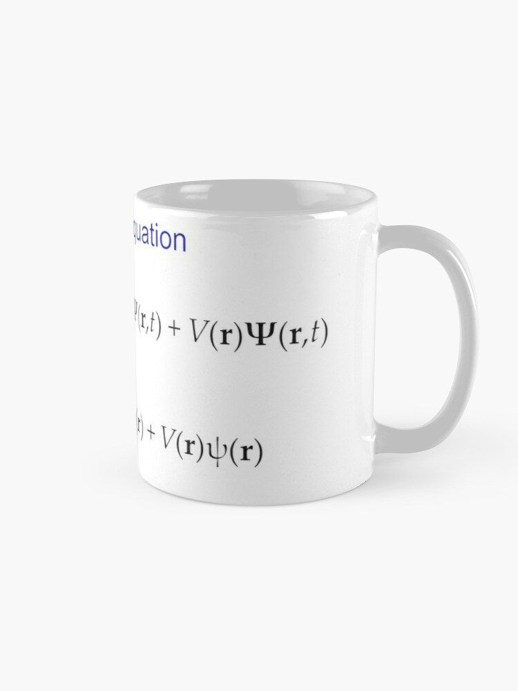 Alternate view of #Schrödinger #Equation,  #Quantum #Physics, Wave Function, Quantum Mechanics  Mug