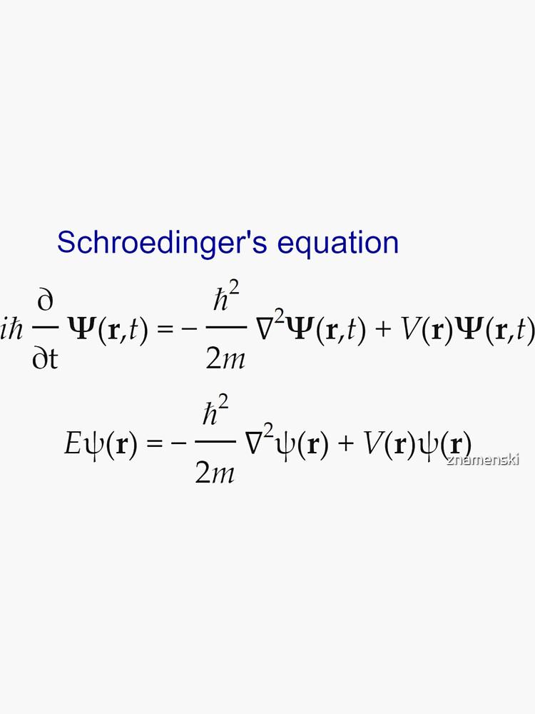 #Schrödinger #Equation,  #Quantum #Physics, Wave Function, Quantum Mechanics  by znamenski