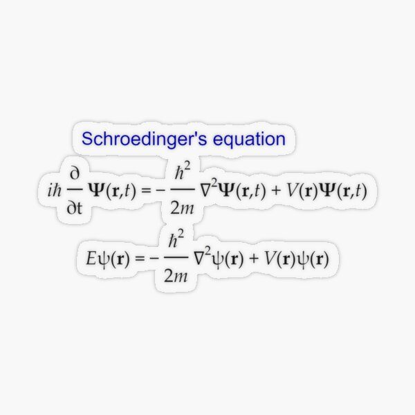 #Schrödinger #Equation,  #Quantum #Physics, Wave Function, Quantum Mechanics  Transparent Sticker