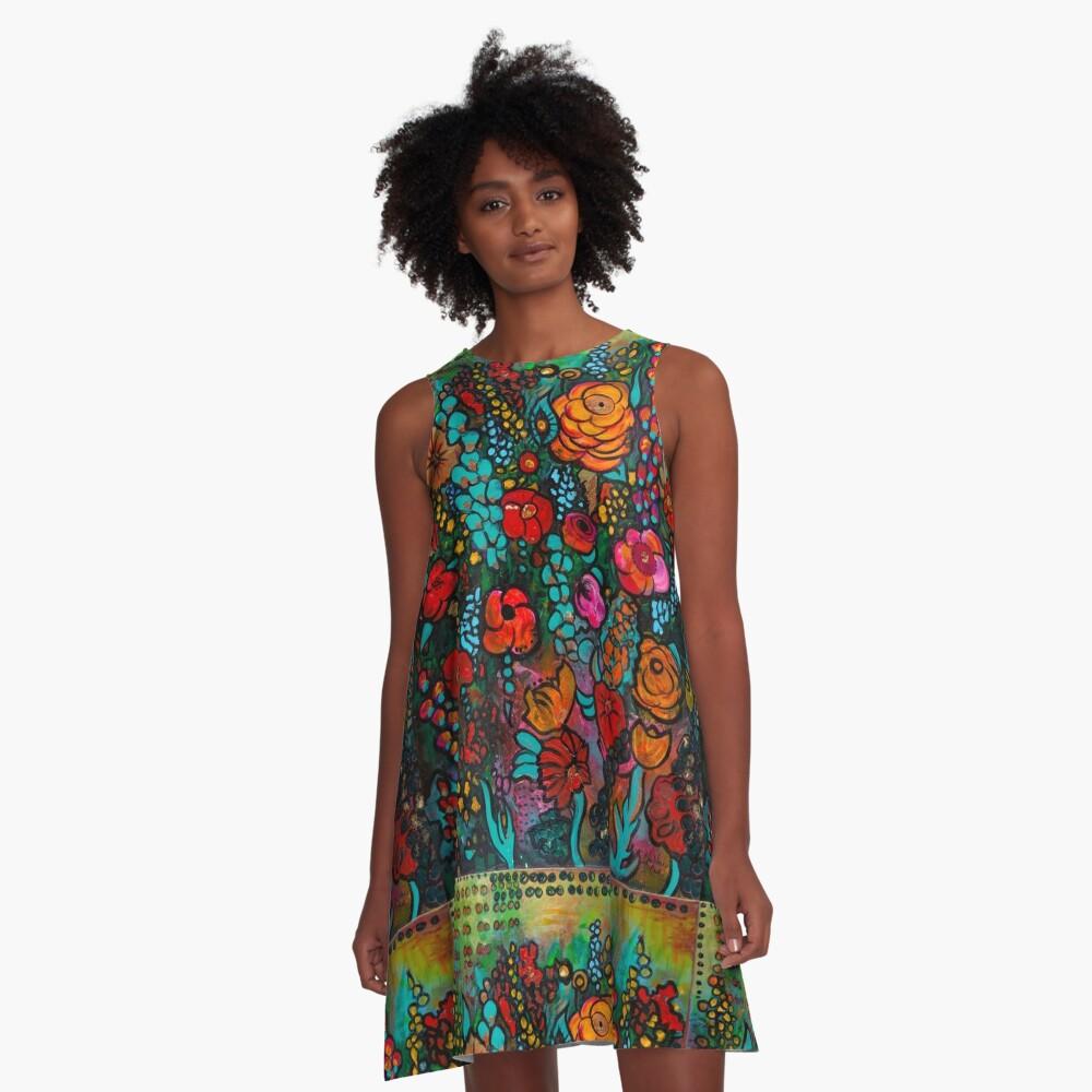 Jardin d'Or A-Line Dress