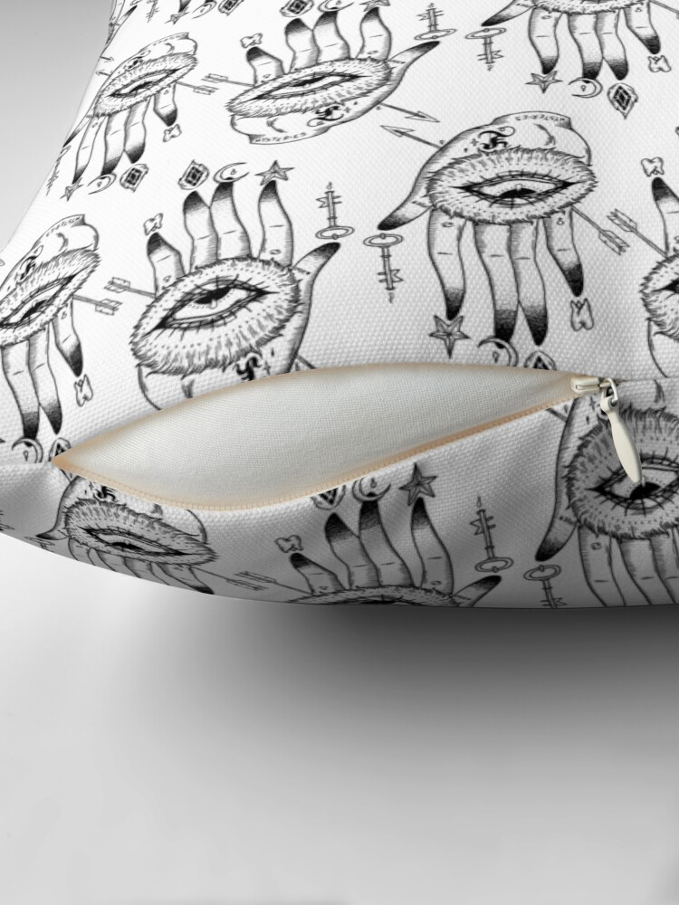 Alternate view of Hand of Mysteries  Throw Pillow