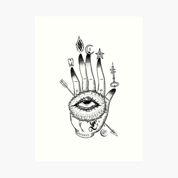 Hand der Geheimnisse Kunstdruck
