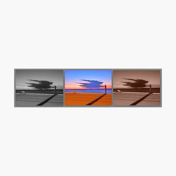 Storm Colours Derby Jetty Photographic Print