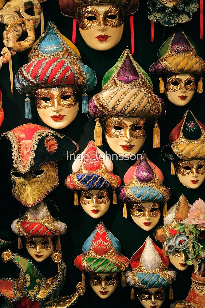 Venetian Masks by Inge Johnsson