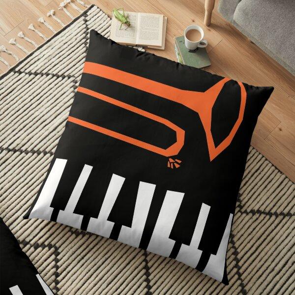 Jazz Trombone and Piano Floor Pillow