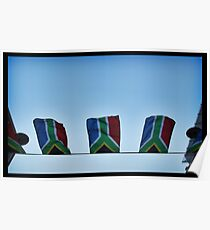 The South African Flag Poster