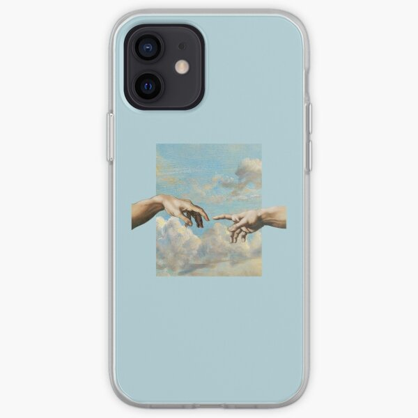 Blue aesthetic Michaelangelo iPhone Soft Case
