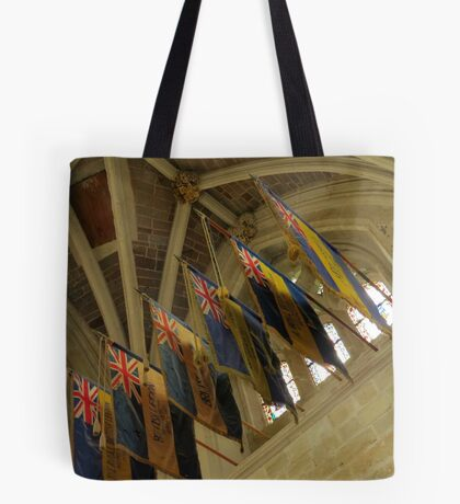 British Legion Flags, Exeter Cathedral, Devon Tote Bag