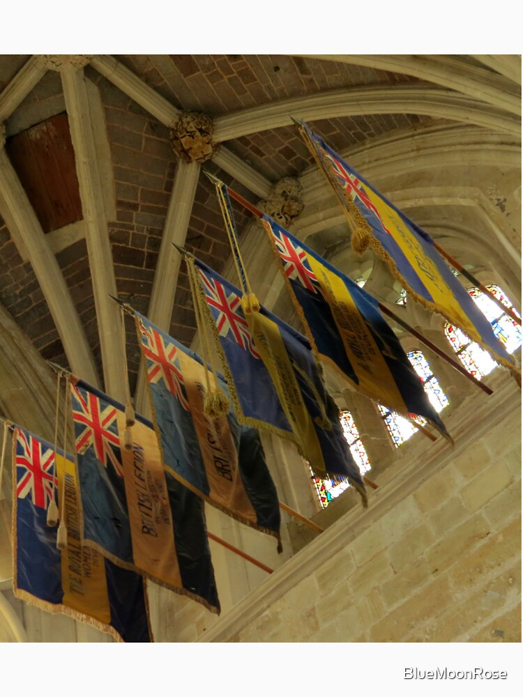 British Legion Flags, Exeter Cathedral, Devon von BlueMoonRose