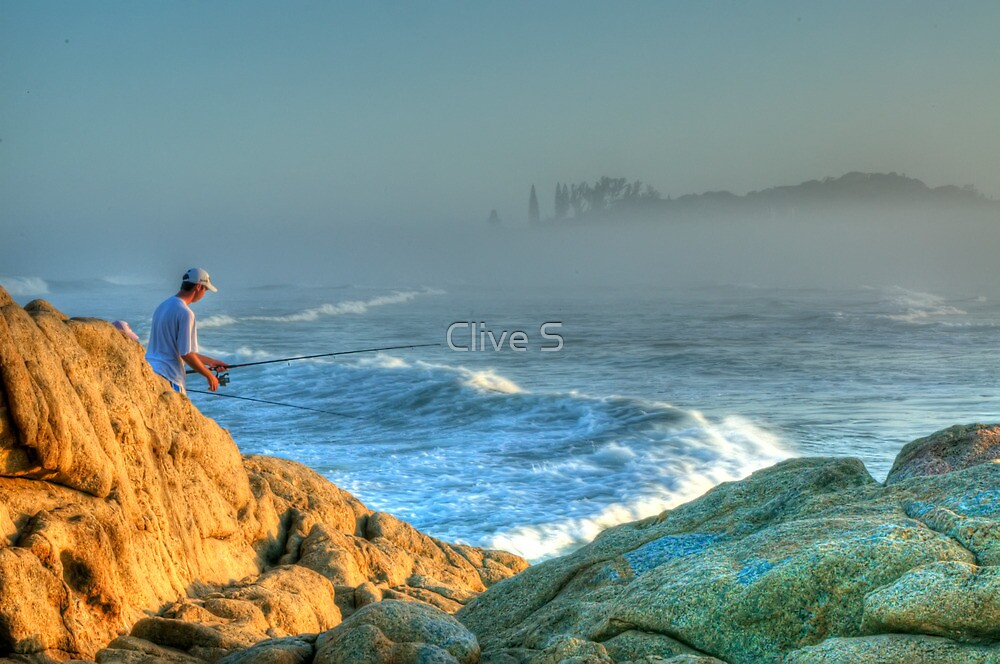 The Lone Fisherman by Clive S