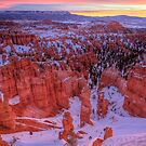 Pastel Sunrise - Bryce Canyon in Winter by Clayhaus