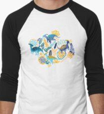 Gouache Parasaurolophuses Baseballshirt mit 3/4-Arm