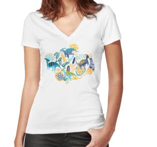 Fitted V-Neck T-Shirt