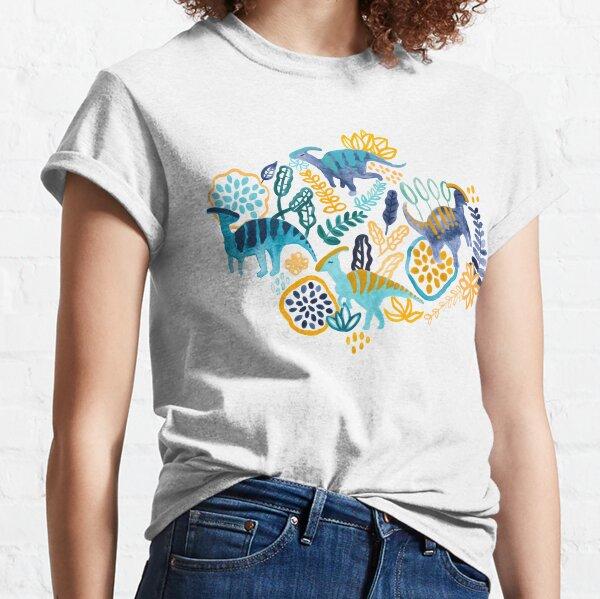 Gouache Parasaurolophuses  Classic T-Shirt