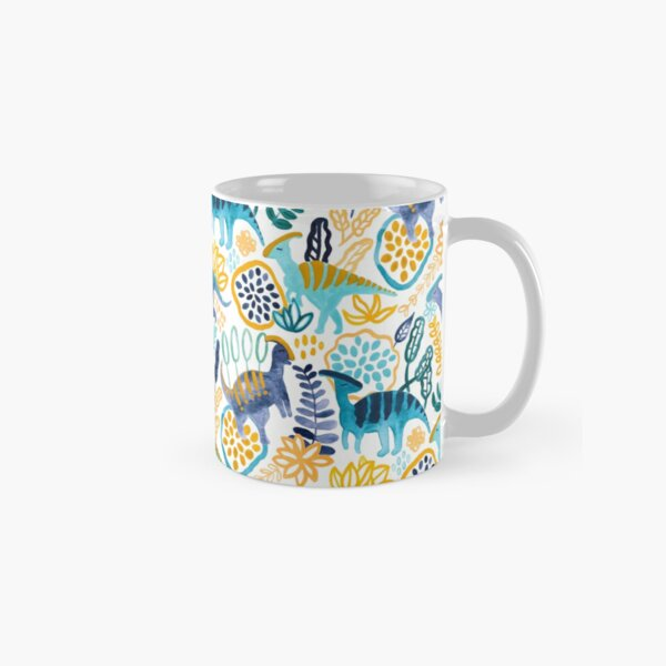 Gouache Parasaurolophuses  Classic Mug