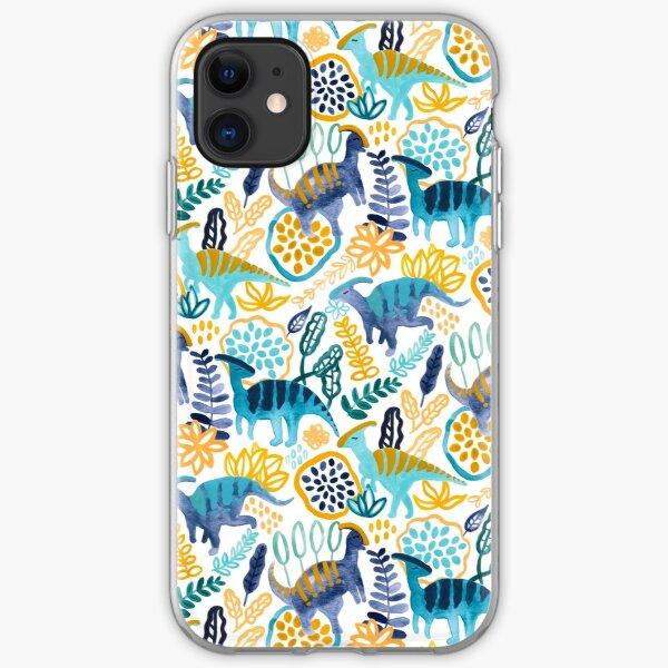Gouache Parasaurolophuses  iPhone Soft Case