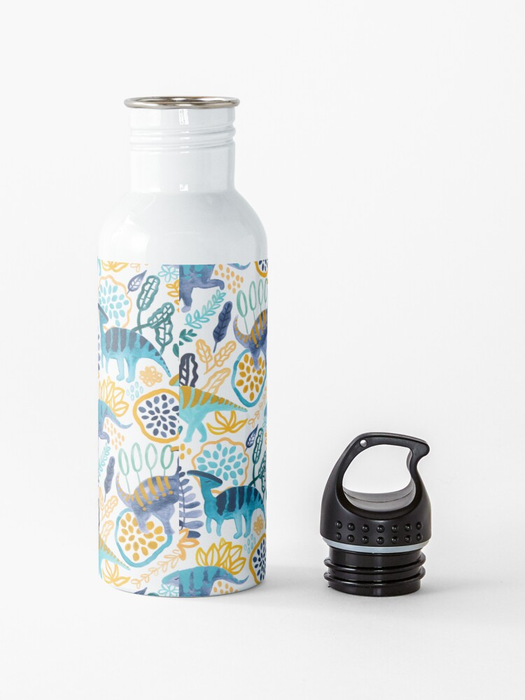 Alternate view of Gouache Parasaurolophuses  Water Bottle