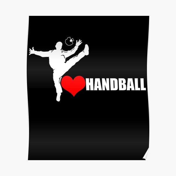 J'aime la chemise de gardien de but de handball | Gardien de but gardien gardien handballer et handballer Poster