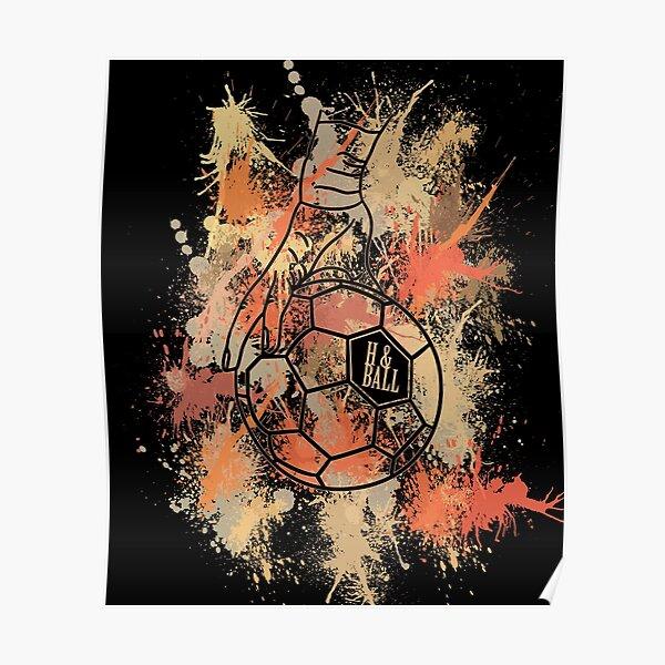 Maillot d'entraînement Handballer Retro Color Splash | Handball Ball Handballer et Handballerin Poster