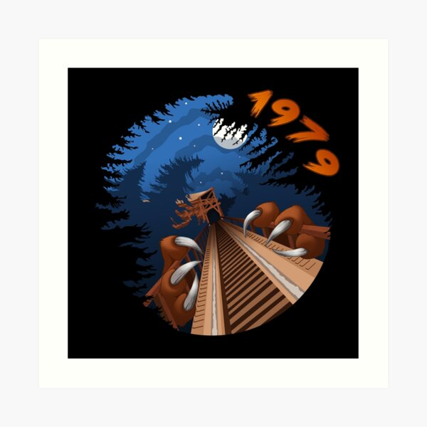 NIGHT RIDES ONLY Beast Wooden Roller Coaster at Kings Island Theme Park Art Print
