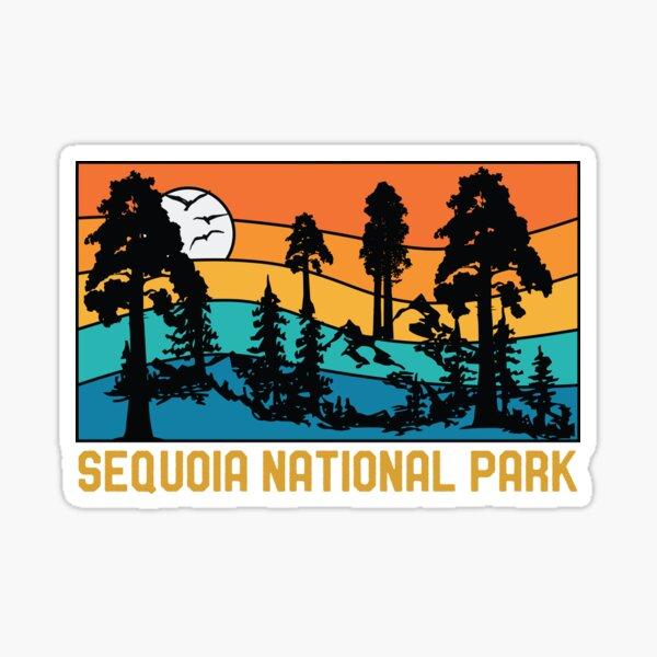 Vintage Sequoia National Park Souvenir Retro Sequoia Tree Sticker