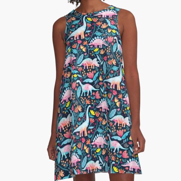 Dinosaur Delight A-Line Dress