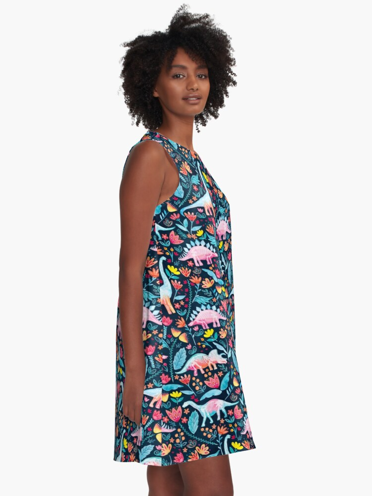 Alternate view of Dinosaur Delight A-Line Dress
