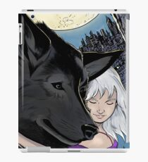 The girl with the wolf iPad Case/Skin