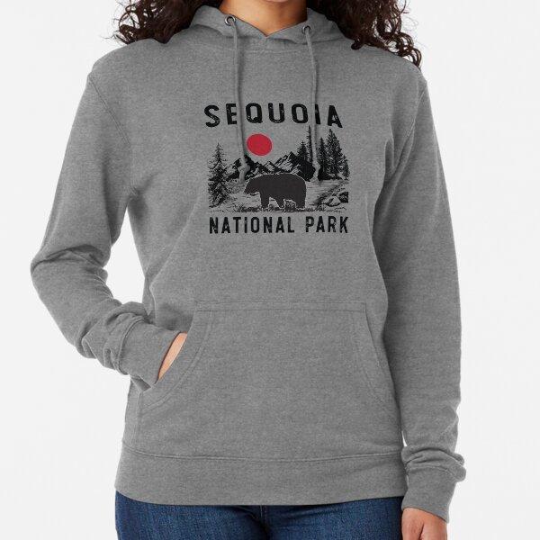 Vintage Sequoia National Park California Black Bear Souvenir Lightweight Hoodie
