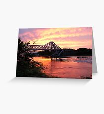 Connel Falls of Lora Sunset Greeting Card