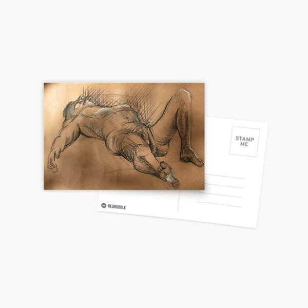 Reclining Male Nude #2 Postcard