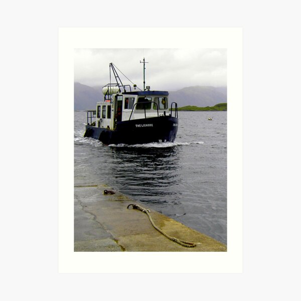 Lismore Ferry at Port Appin Art Print