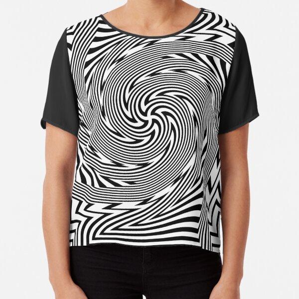 #Psychedelic #Hypnotic #Pattern, Visual #Illusion, Optical Art  Chiffon Top