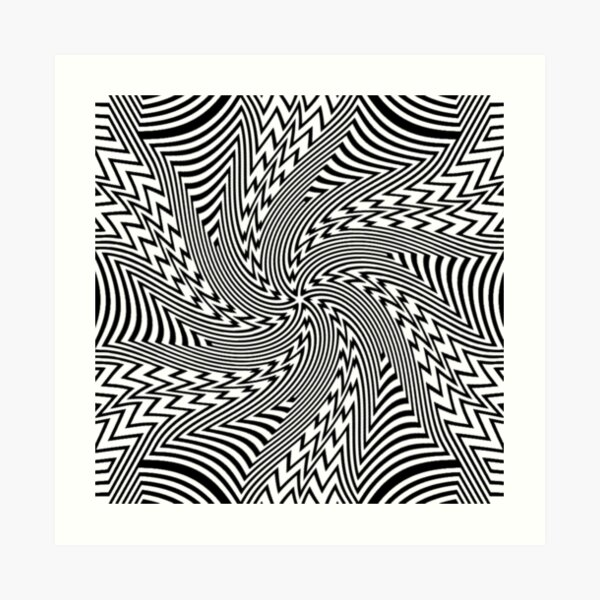 #Psychedelic #Hypnotic #Pattern, Visual #Illusion, Optical Art  Art Print