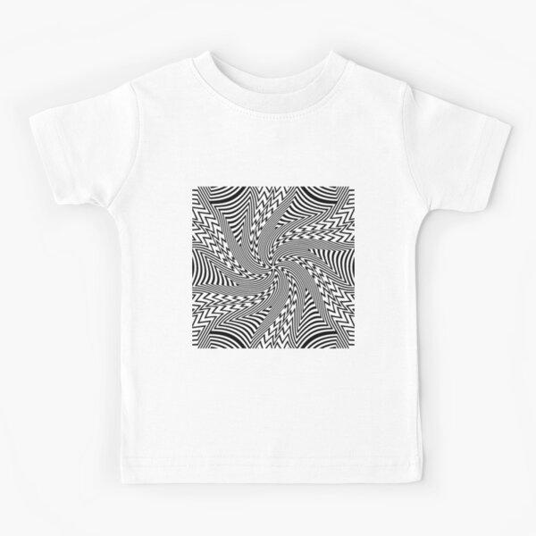 #Psychedelic #Hypnotic #Pattern, Visual #Illusion, Optical Art  Kids T-Shirt