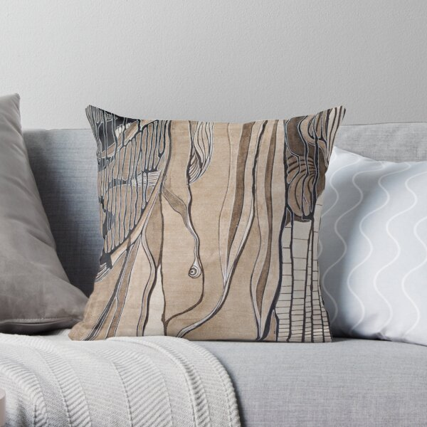 Leaf and leaves Throw Pillow