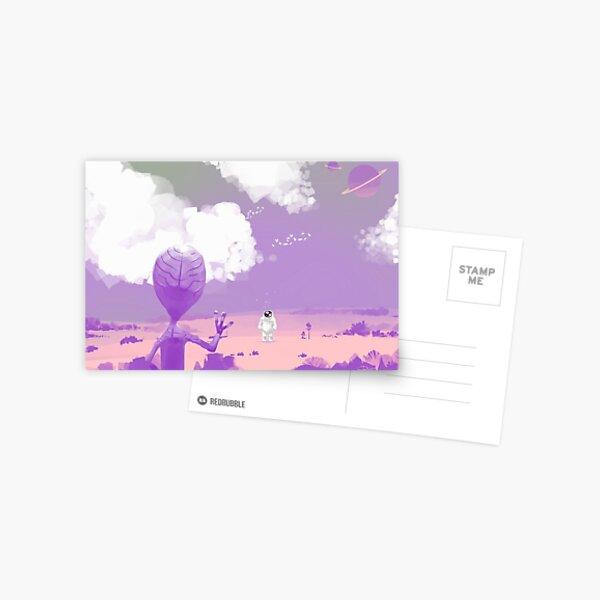 Ufo and astronaut Postcard