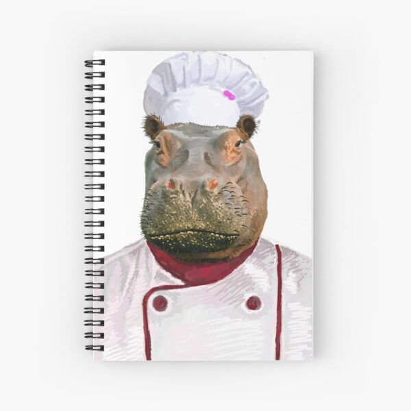 Madame Hippo the Chef Spiral Notebook