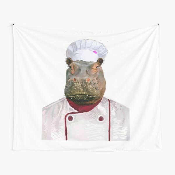 Madame Hippo the Chef Tapestry