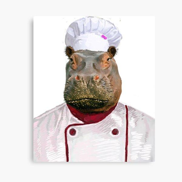 Madame Hippo the Chef Canvas Print