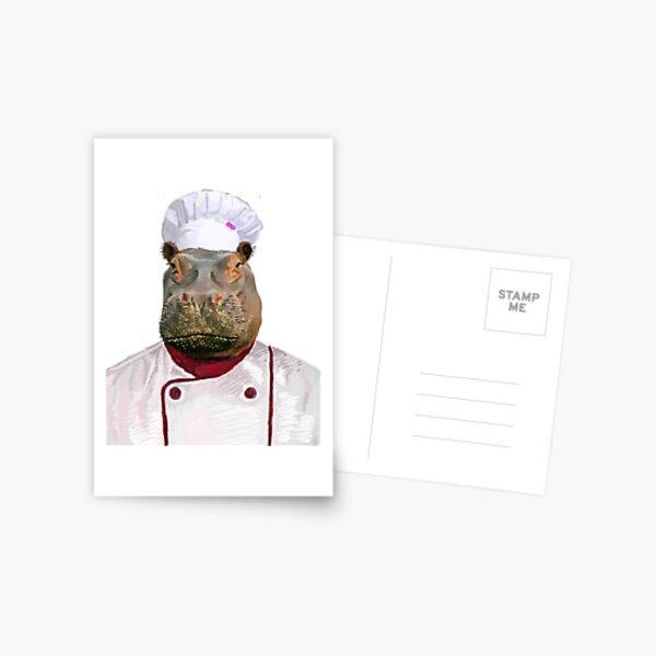Madame Hippo the Chef Postcard