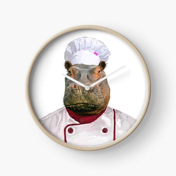 Madame Hippo the Chef Clock