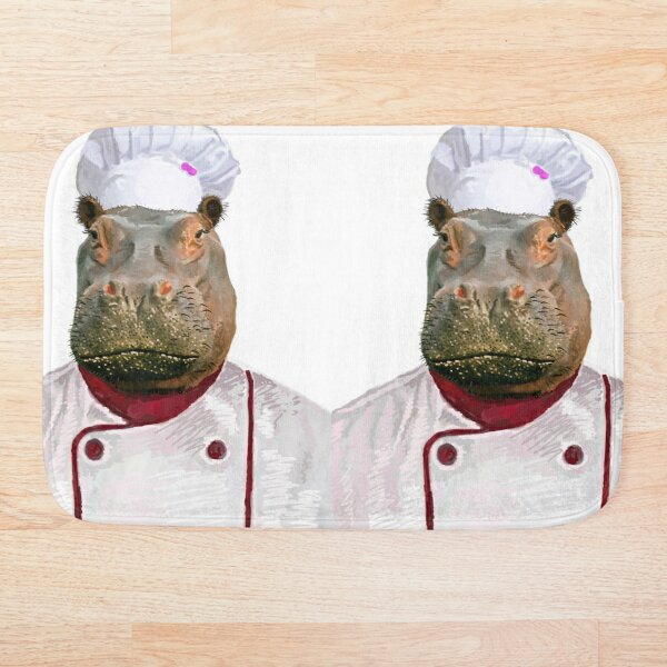 Madame Hippo the Chef Bath Mat