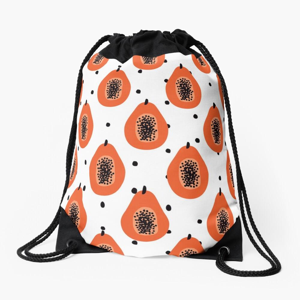 Super Papaya-Muster Turnbeutel