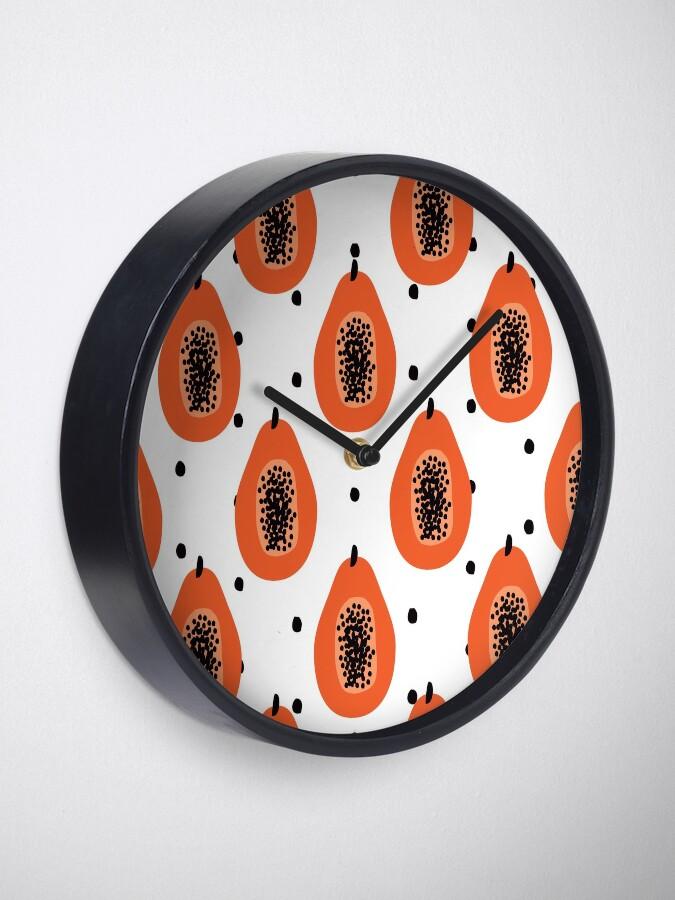 Alternative Ansicht von Super Papaya-Muster Uhr