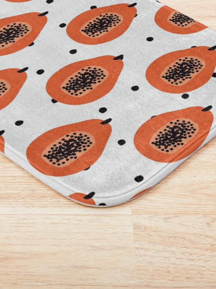 Alternative Ansicht von Super Papaya-Muster Badematte