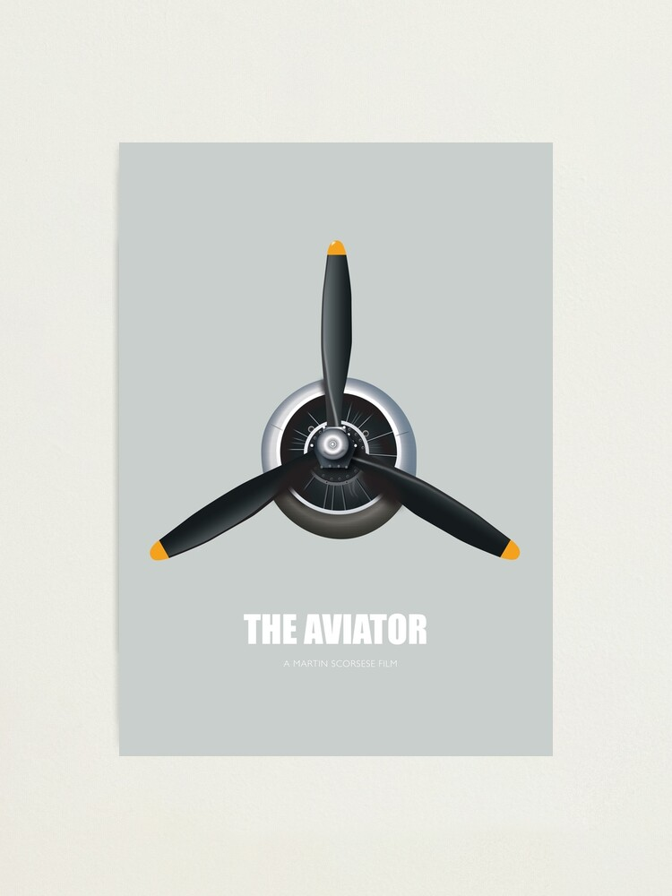 Alternate view of The Aviator - Alternative Movie Poster Photographic Print