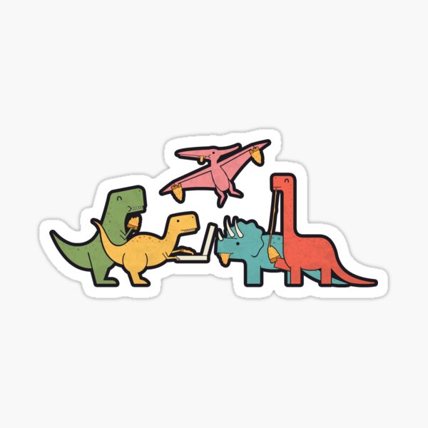 Pizza Dinos Sticker